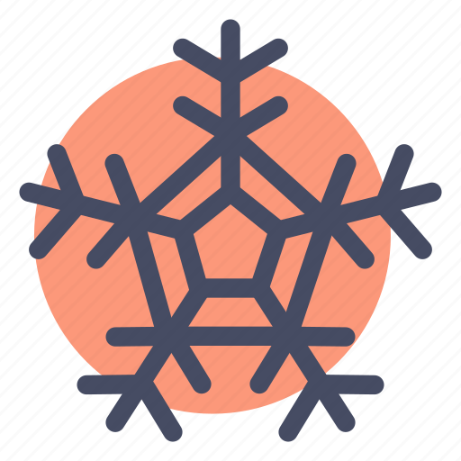 christmas, frost, new year, snow, snowflake, weather, winter icon