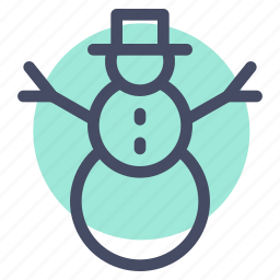 celebration, christmas, decoration, new year, snow, snowman, winter icon