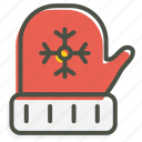 christmas, cold, gloves, winter icon