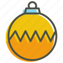 ball, bauble, christmas, decoration icon