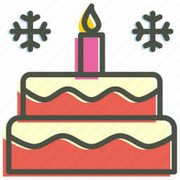 cake, candle, celebrate, celebration, christmas, new year icon