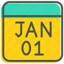 calendar, celebration, date, event, january, month, new year icon