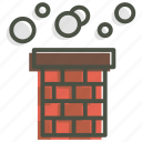 chimney, christmas, claus, santa, smoke, xmas icon