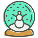 ball, christmas, crystal, gift, snow, snowman icon