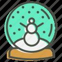 ball, christmas, crystal, gift, snow, snowman