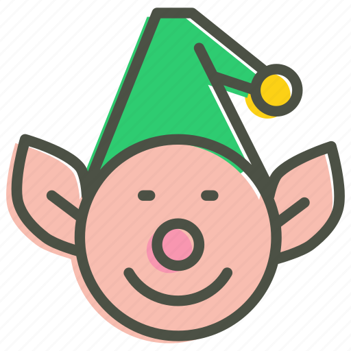 christmas, elf, gift, help, helper, kid, santa icon