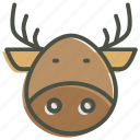 christmas, deer, new year, rein, rudolph, santa icon