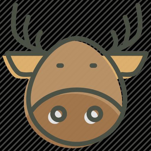christmas, deer, new year, rein, rudolph, santa icon