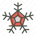 christmas, snow, snowflake icon