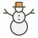 christmas, snow, snowman, winter, celebration, decoration, holiday