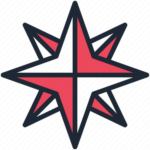 christmas, new year, northern, pole, shine, star, twinkle icon