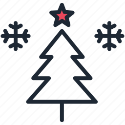 christmas, new year, snow, snowflake, star, tree, winter icon