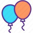 balloon, balloons, birthday, celebration, christmas, new year, party icon