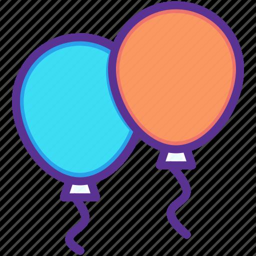 balloon, balloons, birthday, celebration, christmas, new year, party icon