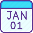 calendar, celebration, date, event, january, new year icon