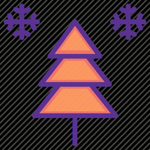 celebration, christmas, decoration, snow, snowflake, tree, winter icon