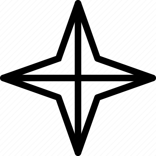 christmas, new year, pole, shine, star, twinkle icon
