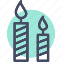 candle, holy, light icon