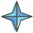 christmas, new year, northern, pole, shiny, star, xmas icon