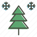 christmas, snow, tree, xmas icon