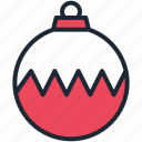 ball, bauble, christmas, decorate, decoration, xmas icon