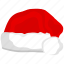 christmas, hat, ornament, santa, santa hat icon