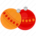 ball, christmas, decor, game icon