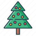 christmas, christmas tree, decorative, lamp, party, tree icon