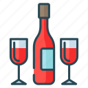 christmas, glamour, glas, party, wine icon