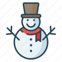 christmas, decoretive, party, snow man, winter icon