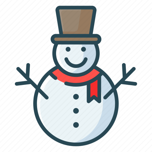 christmas, decoretive, party, snow man, winter icon