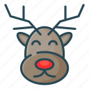 animal, christmas, deer, santa, santa deer icon
