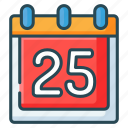 calendar, christmas, december, holiday, xmas icon
