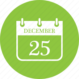 calender, christmas, date, december, month, schedule, time icon