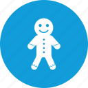 christmas, cookie, galleta, gingerbread, sweet icon