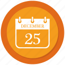 december, calendar, christmas, day