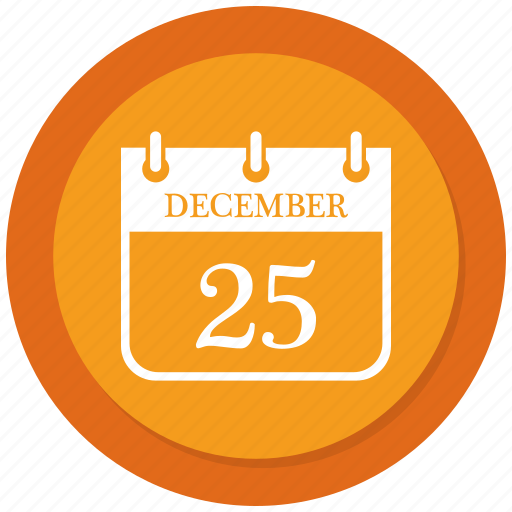December, calendar, christmas, day icon - Download