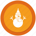 man, snow, snowman, winter icon