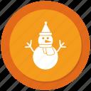 man, snow, snowman, winter icon