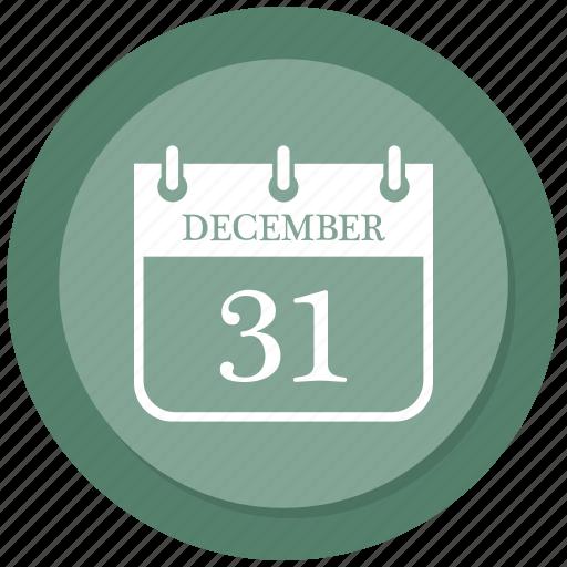 December, calendar, christmas, day icon