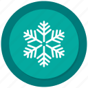 christmas, flake, snow, weather icon