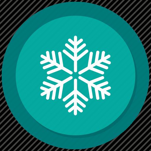 christmas, flake, snow, weather icon
