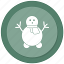 man, snow icon