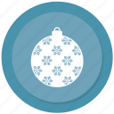 ball, christmas, decoration, holiday icon