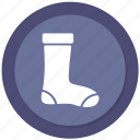 christmas, new year, socks icon