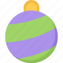 ball, christmas, decoration, game, xmas icon