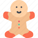 christmas, gift, gingerbread, xmas icon
