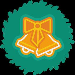bells, christmas, wreath, xmas icon