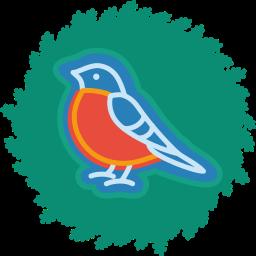 bird, christmas, wreath, xmas icon