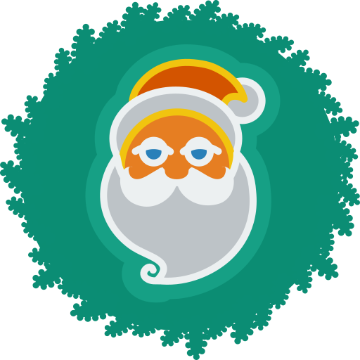christmas, santa, wreath, xmas icon